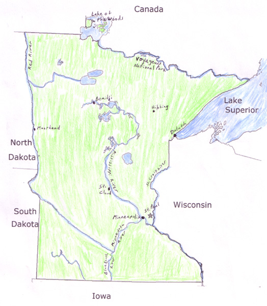 State Report Minnesota - State of minnesota map