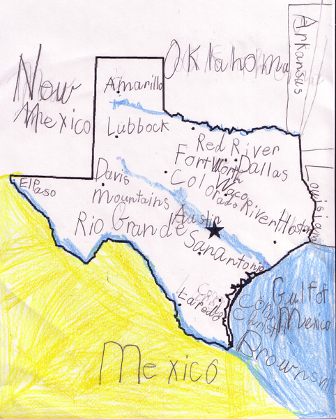 Map Of Texas During The Alamo.Obryadii00 A Map Of Texas State